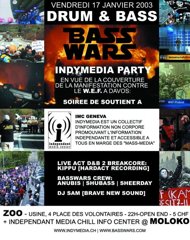 BassWars Indymedia Party