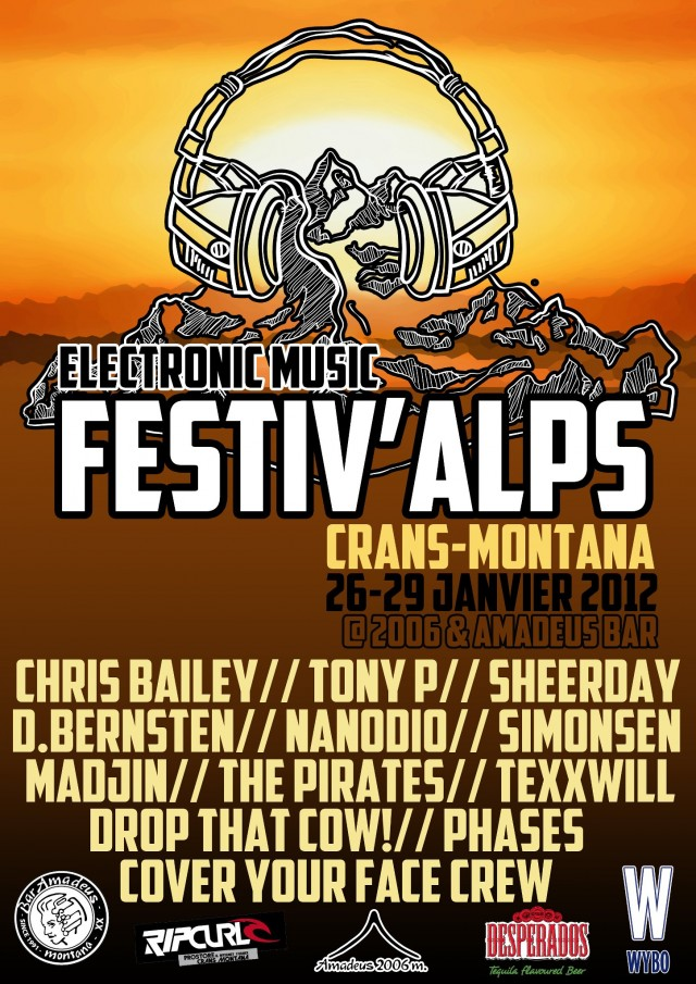 Electronic Music Festival - Crans Montana - Flyer