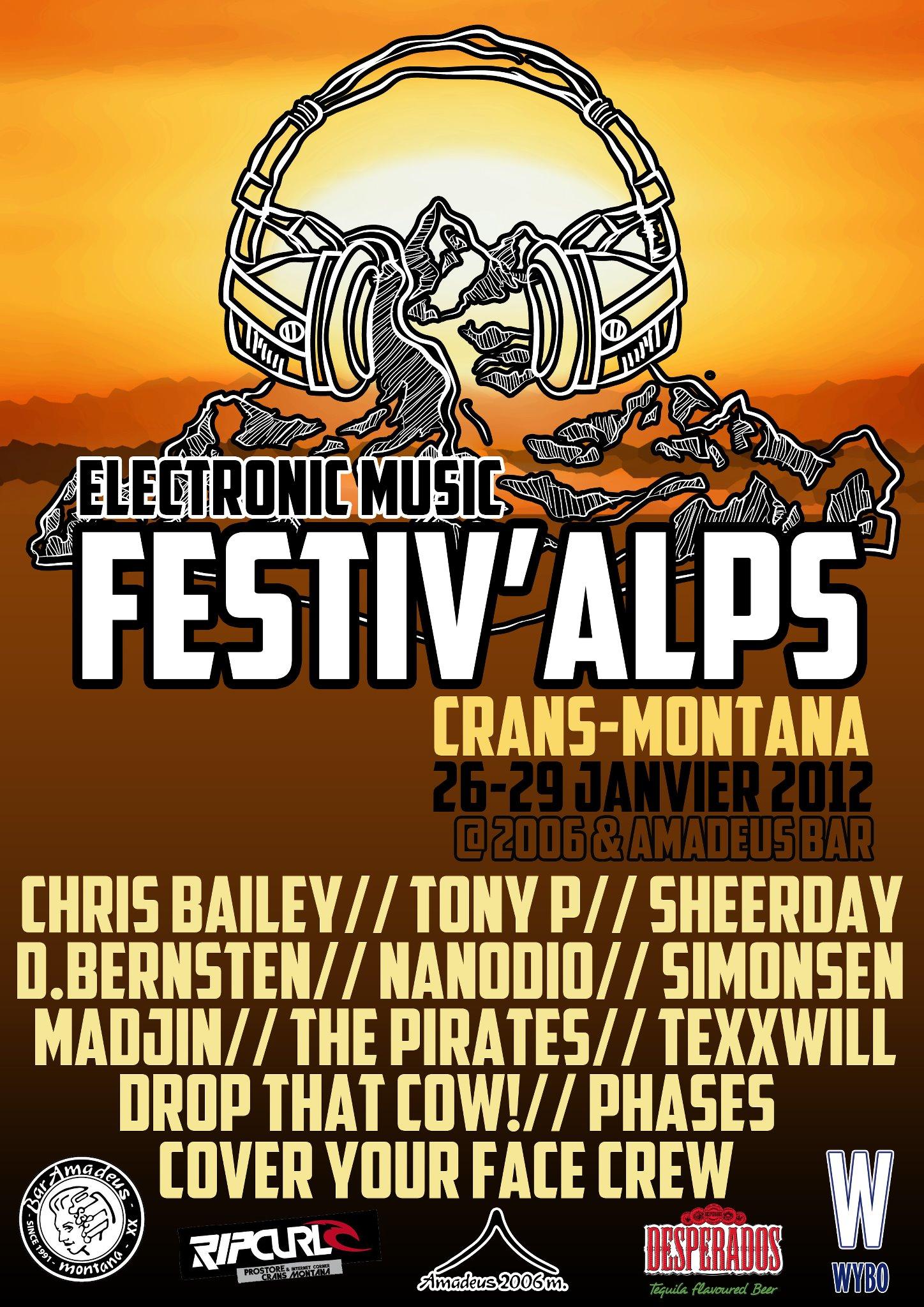 Electronic Music Festival - Crans Montana - Flyer