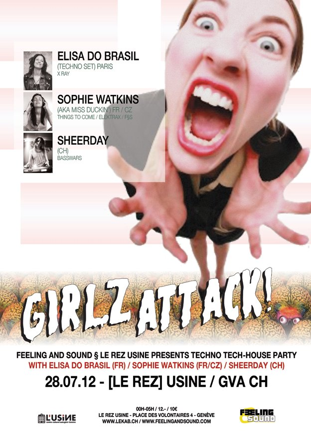 Girlz Attack: Elisa Do Brasil, Sophie Watkins & Sheerday